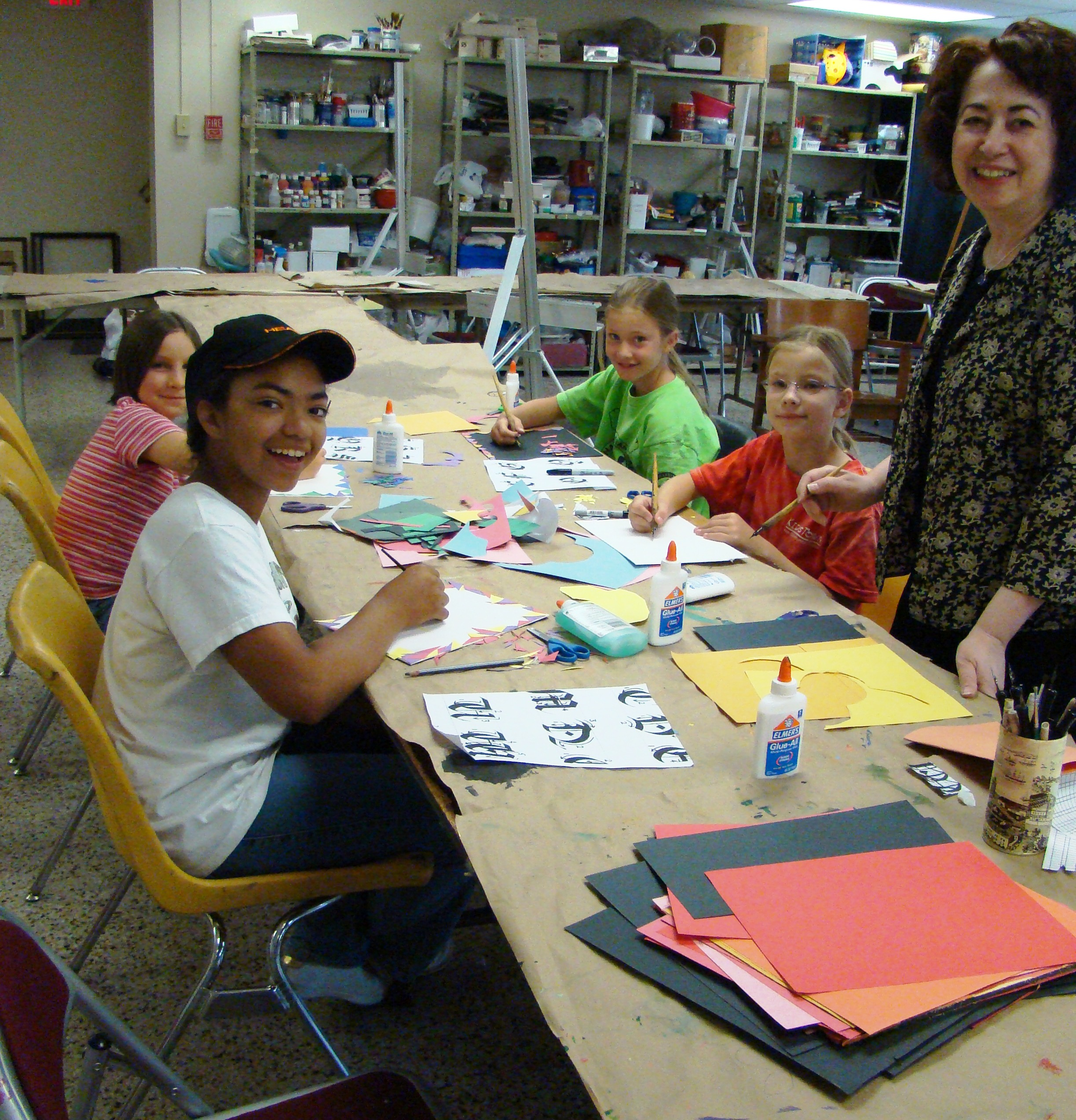 Childrens Art Class Calligraphy Summer 09.JPG